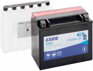 Exide YTX20HL-BS / ETX20HL-BS / YB18L / YTX19L / 12N16-3B / YB16HL-A Dry